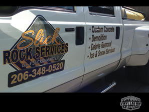Slick rock services die-cut vinyl logo a