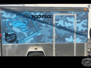 enclosed racing trailer wrap for B-Line