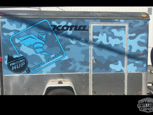 B-Line Racing trailer - full enclosed trailer wrap by Vinyl Lab NW signs and graphics