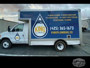 Kings plumbing of Edmonds box truck wrap
