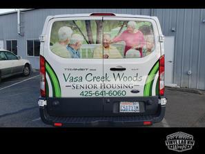 Vasa creek ford transit van stickers and
