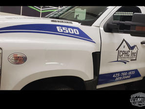 CPHC inc Chevy Duramax 6500 truck graphics by Vinyl Lab NW of Mukilteo and Gig Harbor