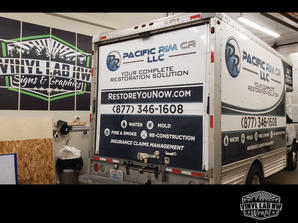 Ford box truck cube van wrap for pacific