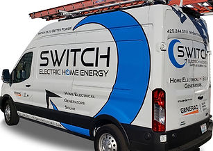 Switch electric for transit van wrap by