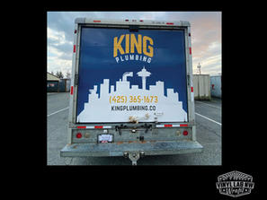 Full box truck wrap by vinyl lab nw wrap