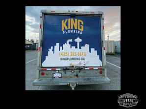 Full box truck wrap by vinyl lab nw wraps of mukilteo for King Plumbing of Edmonds