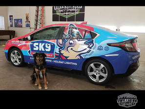 Sky Powerwash Chevy Bolt full wrap with