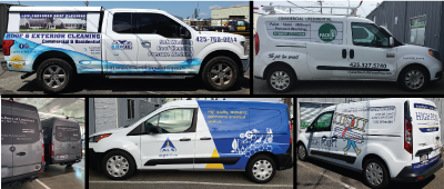 Partial commercial vehicle wraps by Viny