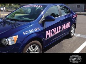Nissan Sentra molly maid car vinyl logo