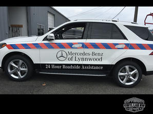reflective vinyl graphics for Mercedes-B