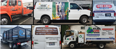 Vinyl graphics and business logos and le
