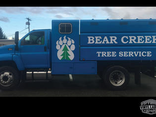 Bear Creek Tree Service of Woodinville truck graphics. They serve the Greater Seattle Area. Designed, printed and installed by Vinyl Lab NW Signs and Graphics of Mukitleo. Addtional location in Gig Harbor.