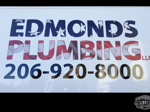 Edmonds Plumbing vinyl graphics for Ford Econoline, by Vinyl Lab Wraps