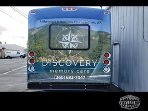 Discovery Memory care transit bus rear w