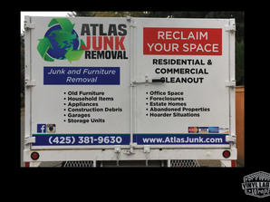 Atlas Junk Removal truck graphics by vin