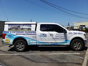 Blue Skies Truck Wrap by vinyl lab nw of mukilteo
