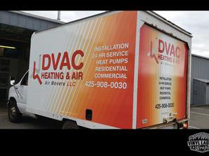DVAC Heating and Air Box truck cube van