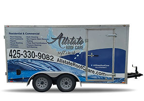 Allstate Roof care trailer graphics viny