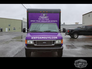 cool box truck wrap for NW Foam Guys of Kirkland by Vinyl Lab NW signs and graphics