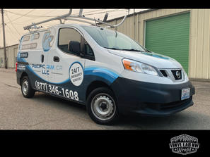 Nissan NV200 van graphics half wrap by vinyl lab nw signs and graphics of mukilteo