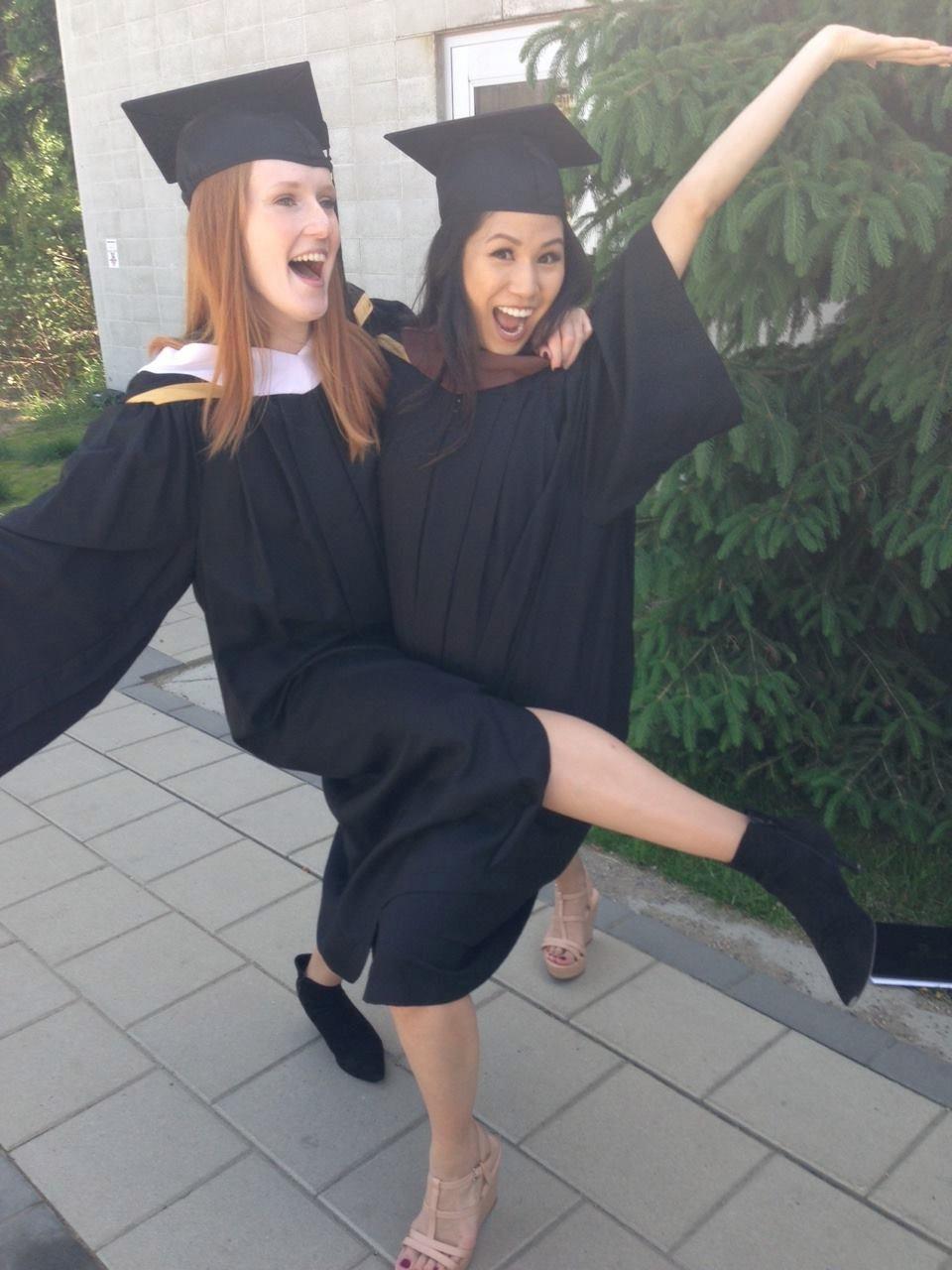Vanessa & Elaine graduated!