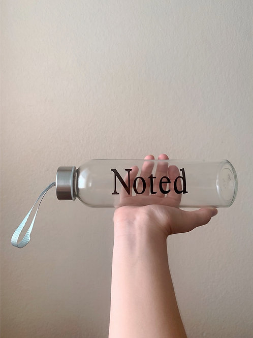 Noted Glass Bottle