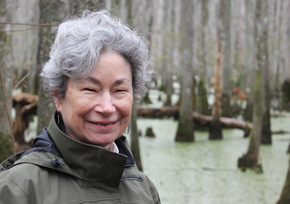 NC Coastal Land Trust founder Camilla Hervelich with receives Lifetime Achievement Award