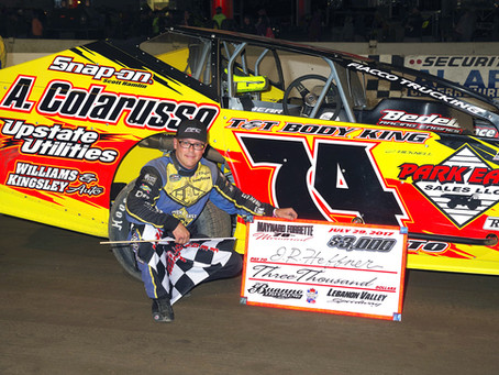 J.R. Heffner Claims First Lebanon Valley Win of 2017