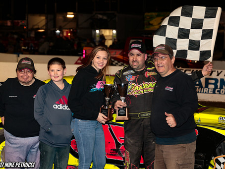 Olden Dwyer Claims Small Block Triumph as Lights Postpone Modified Feature
