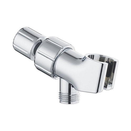 Adjustable Wall Shower Adapter and Holder for Handheld Showerheads - Chrome