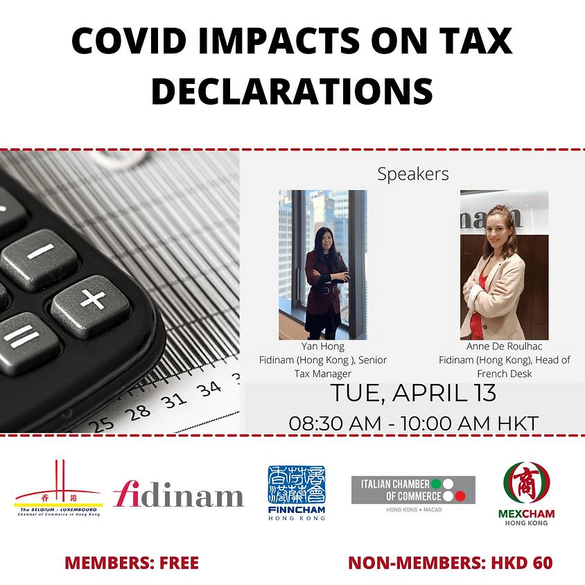 Covid impacts on tax declarations