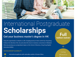 International Postgraduates Scholarships