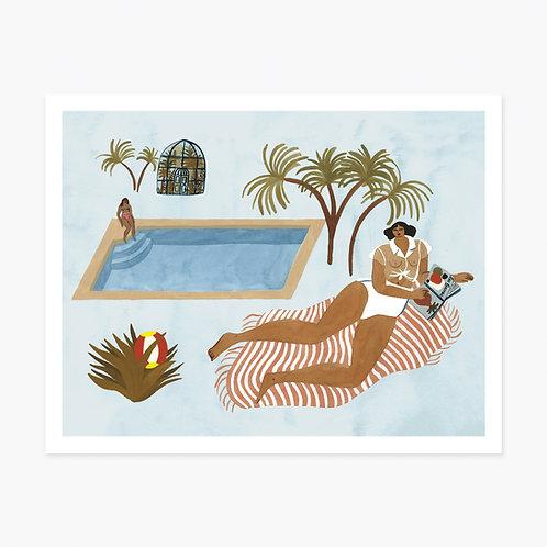 Art Print - Far Off Poolside