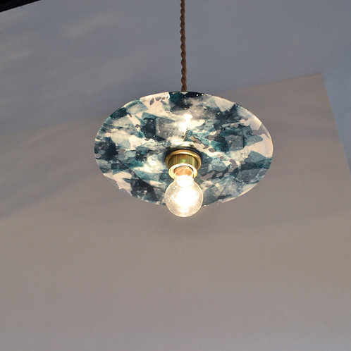 Record Glass Shade 7inch (H)- Glassic
