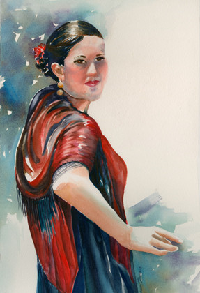 Dancer in Red Shawl