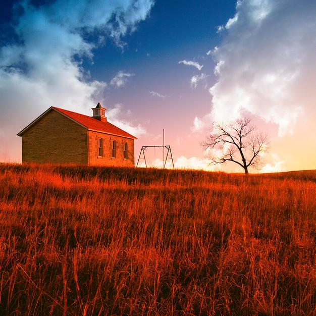 Fall Sunrise Chase County Flint Hills