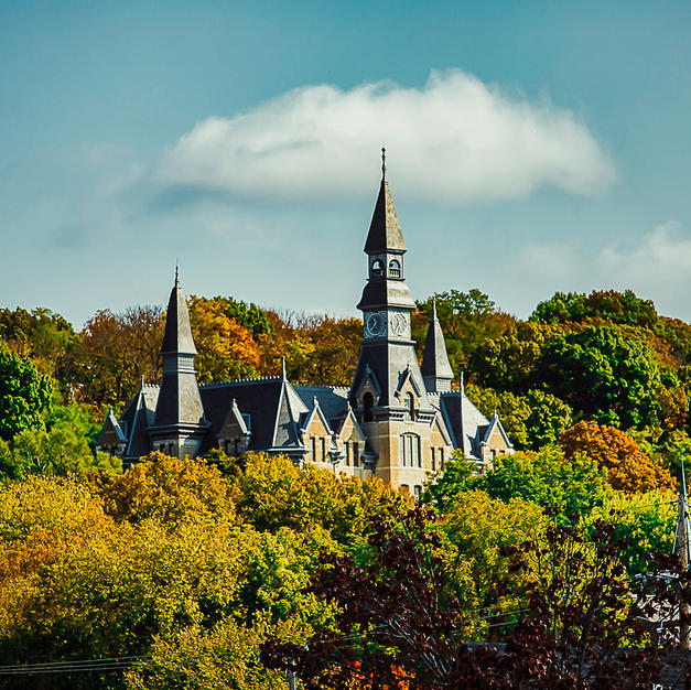Mackay Hall Parkville University in Fall