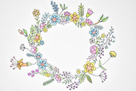 פרחים מאוירים