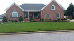Large front lawn, well kept