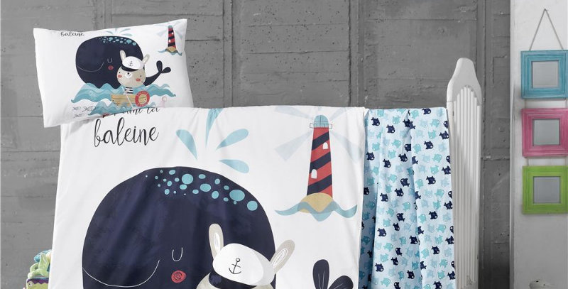 """""""Lil Fisher"""" - Quilt Cover Crib Set with Bumper"""