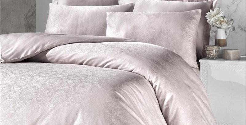 """""""Valeria cream""""- Jaquard Duvet Cover Set"""