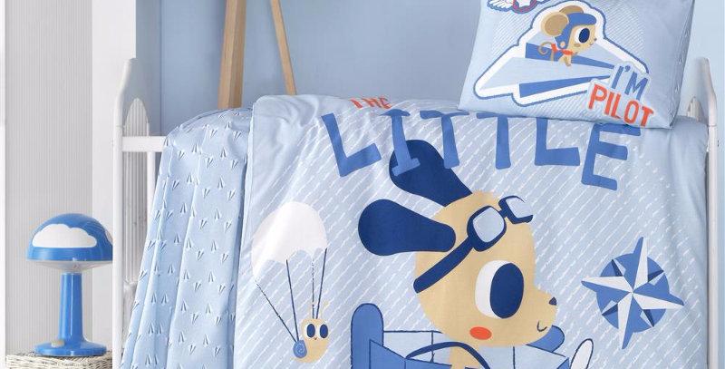"""""""Little Pilot"""" - Quilt Cover Set - Crib Size"""