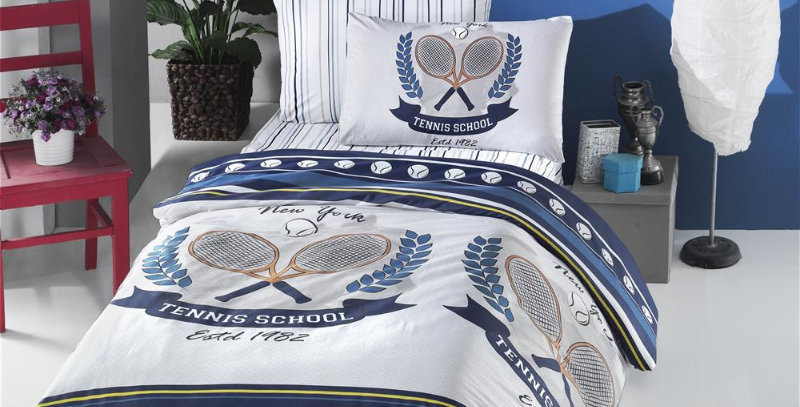 """Tennis"" -  Ranforce Duvet Cover Set"