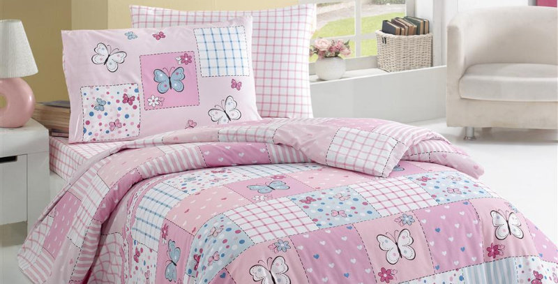 """Butterfly"" -  Ranforce Duvet Cover Set"