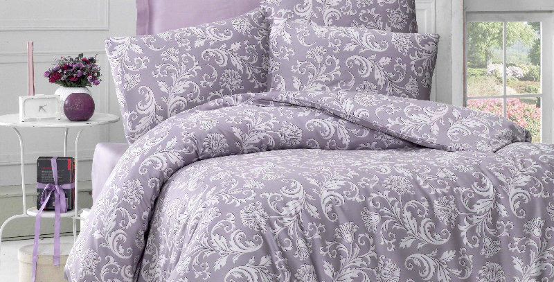 """Verano Lilac"" -  Luxury Sateen Duvet Cover Set"