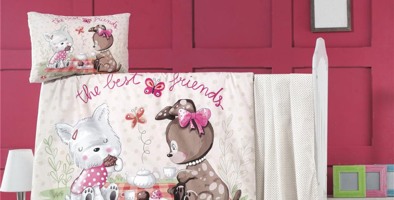 """Cookie Time"" - Quilt Cover Crib Set with Bumper"