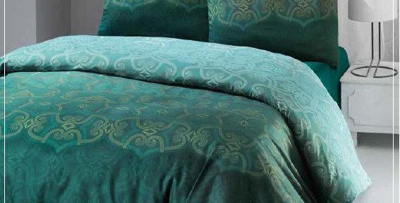 """""""Pandora Green"""" -  Luxury Sateen Duvet Cover Set"""