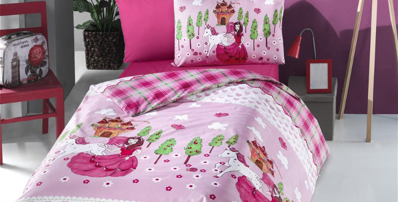 """Unicorn"" -  Ranforce Duvet Cover Set"