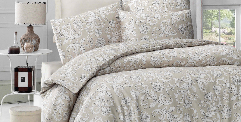 """Verano Cream"" -  Luxury Sateen Duvet Cover Set"
