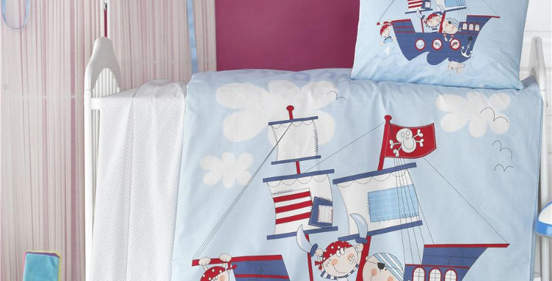 """Ship"" - Quilt Cover Set - Crib Size"